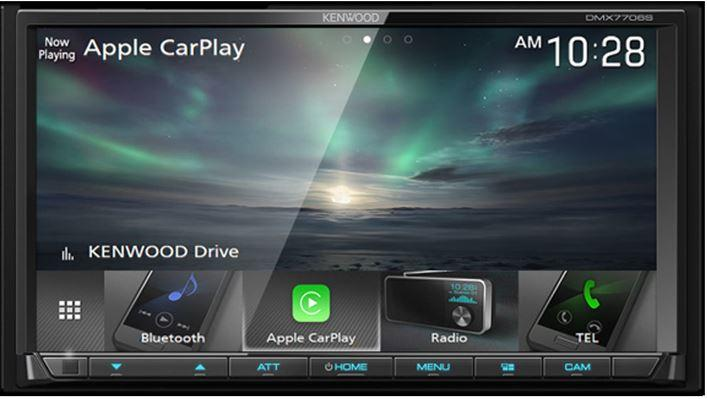 "Kenwood DMX7706S 6.95"" Digital Multimedia Receiver With Apple Car Play and Android Auto"