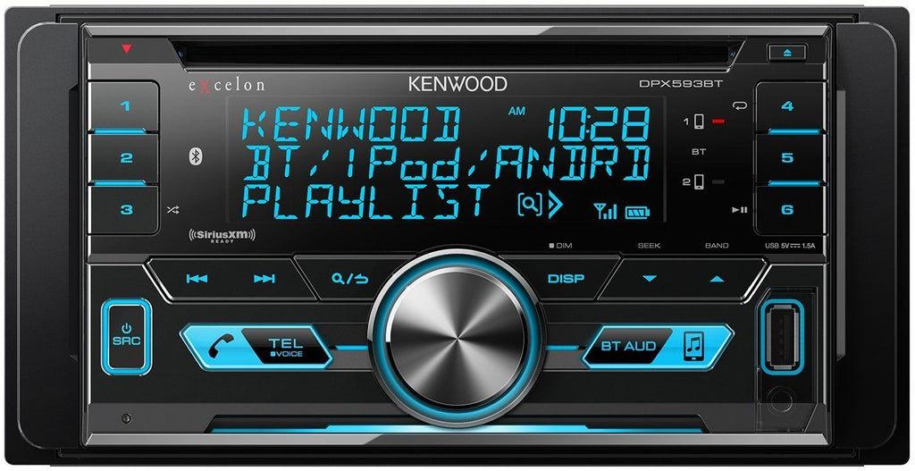 Kenwood Dpx593bt 2 Din Cd Receiver W Bluetooth Amp Usb