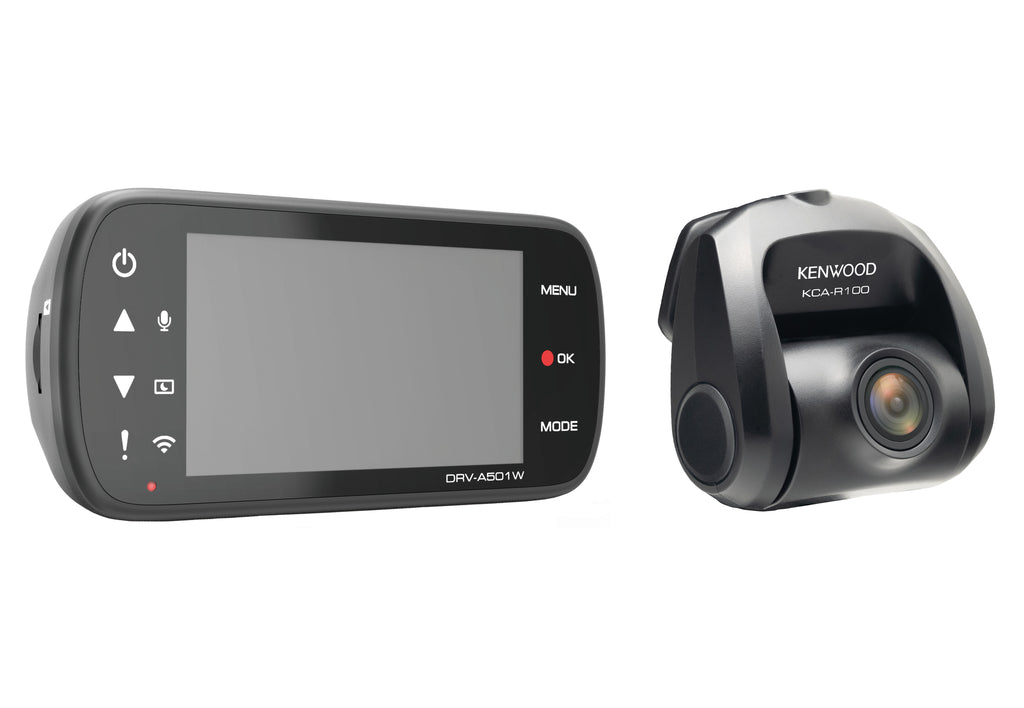 Kenwood DRV-A501WDP High Definition Recording & Wireless Link Dual Camera Package - Freeman's Car Stereo