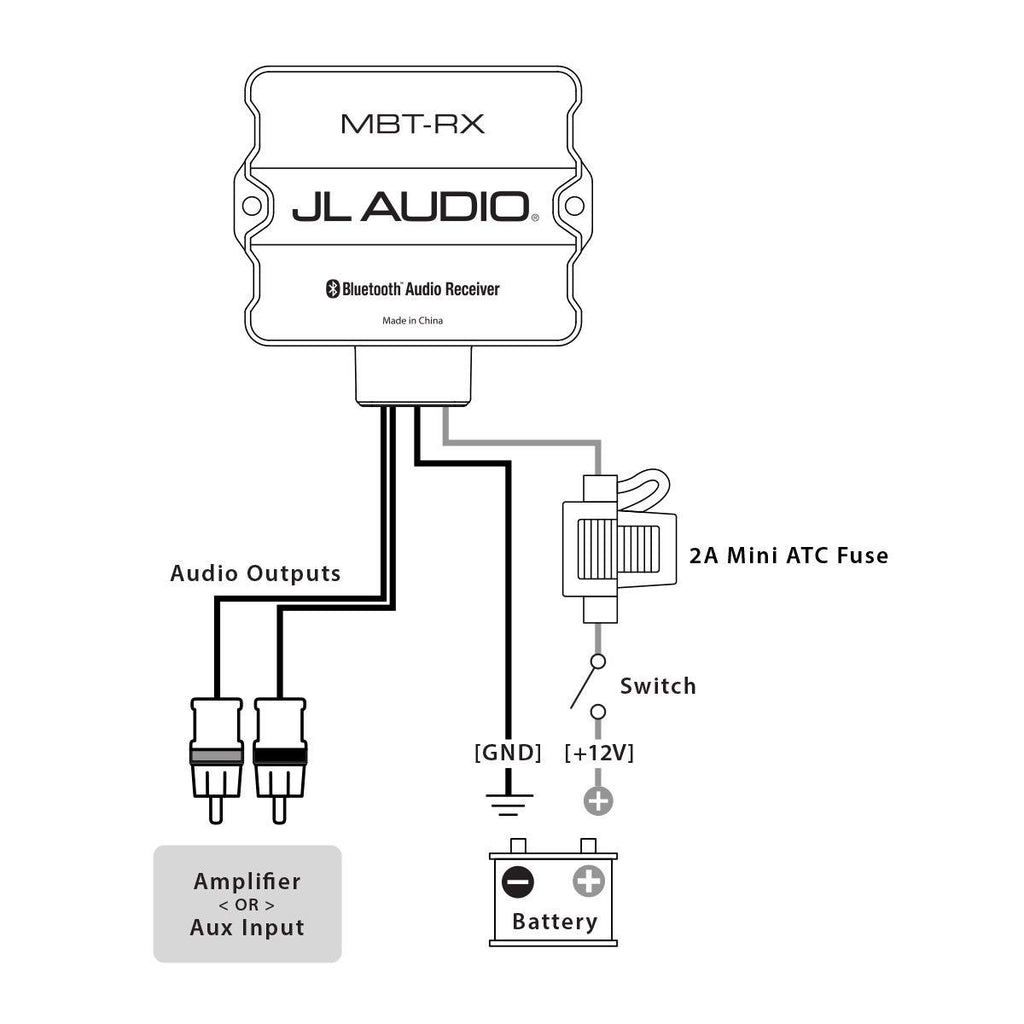 JL AUDIO MBT-RX - Bluetooth® Audio Receiver - Freeman's Car Stereo