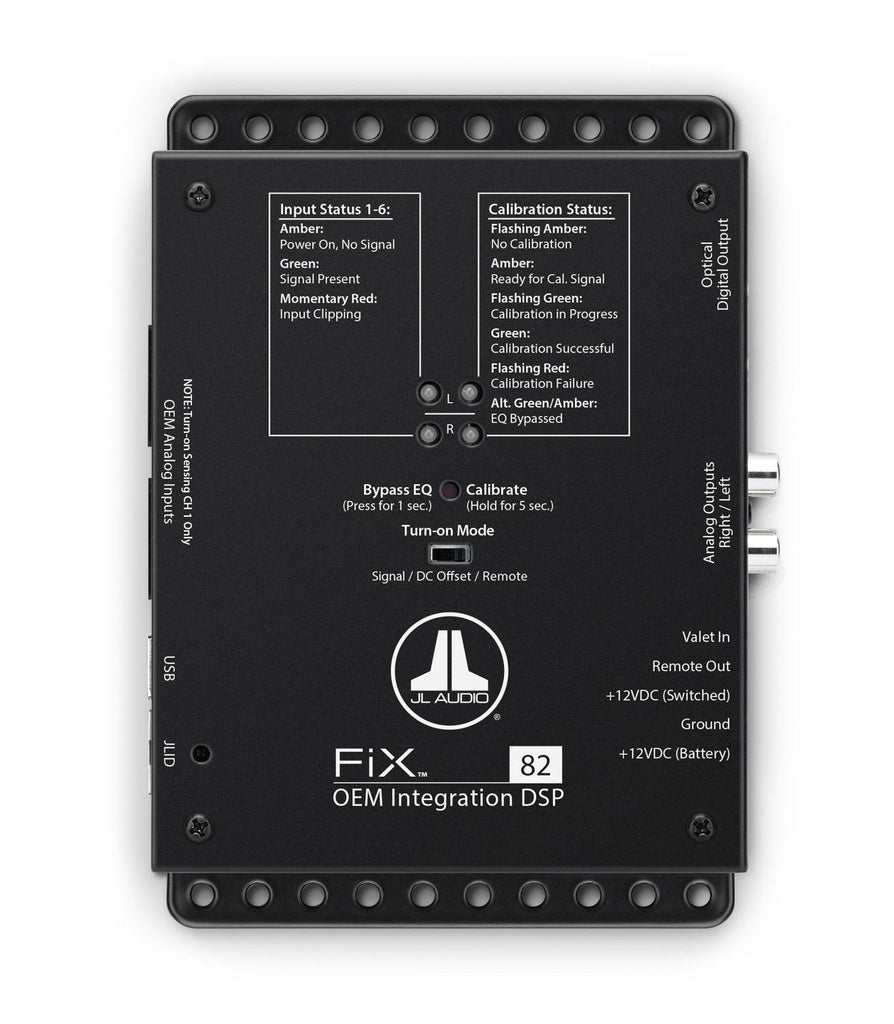 JL Audio FiX-82 - OEM Integration DSP with Automatic Time Correction and Digital EQ - Freeman's Car Stereo