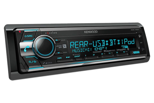Kenwood KDC-X501 eXcelon - CD Receiver with Built-In Bluetooth - Freeman's Car Stereo