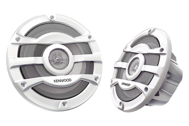 "KENWOOD KFC-2053MRW - 8"" 2-way Marine Speaker System (White) - Freeman's Car Stereo"