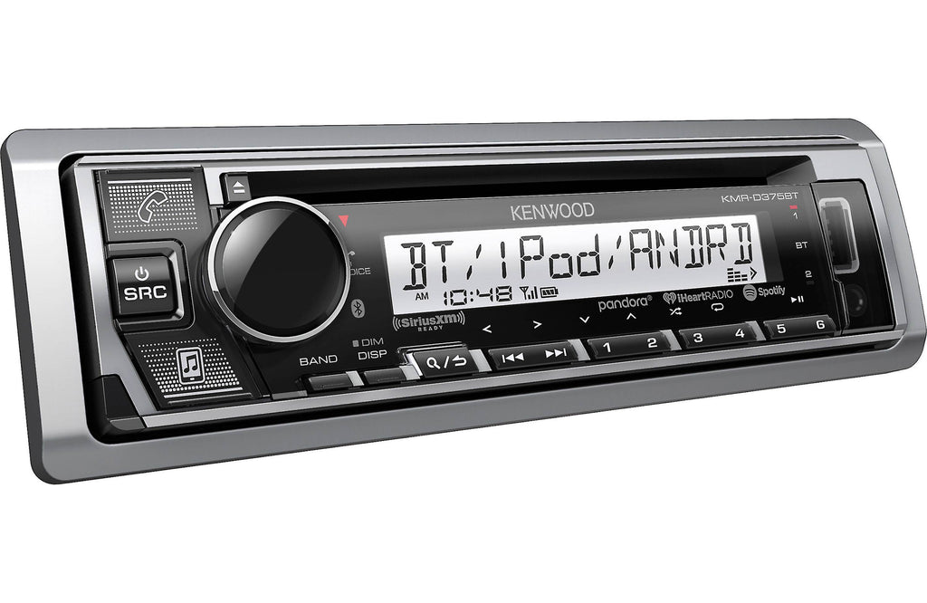 Kenwood KMR-D375BT Marine//Motorsports CD Receiver with Bluetooth Front USB /& Aux