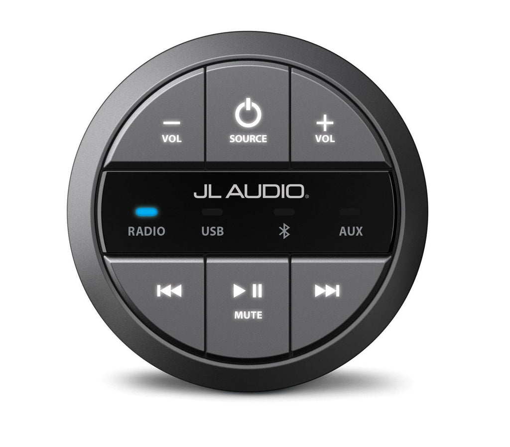 JL AUDIO MMR-20 - Round, wired, non-display remote controller for use with MediaMaster® - Freeman's Car Stereo