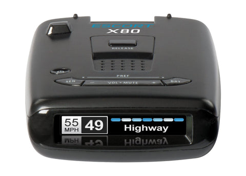 Escort MAX 360 c with Wi Fi, Front & Rear Radar Antennas w/Directional Arrows, DSP, GPS