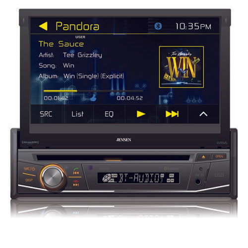 "Jensen VX3518 7"" 1 DIN Multimedia DVD Bluetooth Receiver - Freeman's Car Stereo"