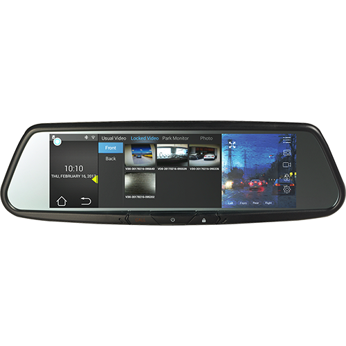 "Audiovox RVM740SM - 7.8"" Android Based Smart Touch-Free Bluetooth Rearview Mirror DVR - Freeman's Car Stereo"