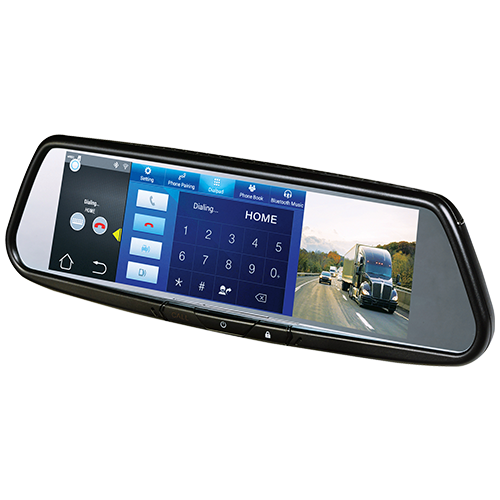 "Audiovox RVM740SM - 7.8"" Android Based Smart Touch-Free Bluetooth Rearview Mirror DVD - Freeman's Car Stereo"