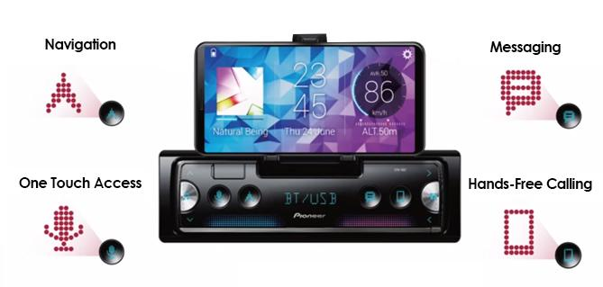 Pioneer SPH-10BT Digital Media Receiver With Cradle for Smartphone, Pioneer Smart Sync with Alexa - Freeman's Car Stereo