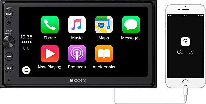 "Sony XAV-AX1000 6.2"" Apple CarPlay Media Receiver WITH Scosche Harley Davidson DDin Install Kit"