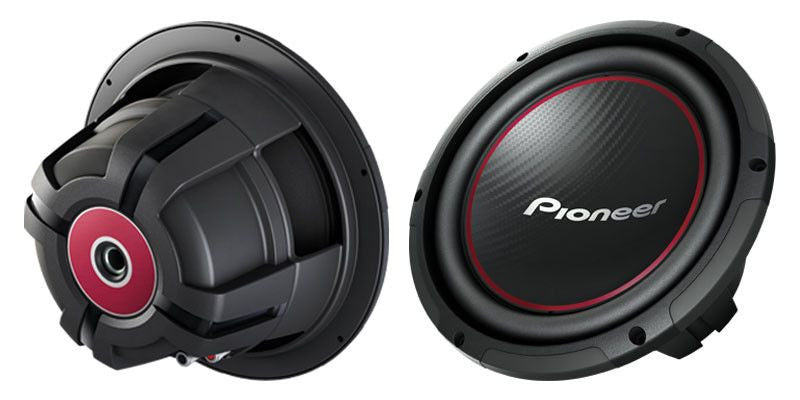 "PIONEER TS-W254R - 10"" Component Subwoofer with 1,100 Watts Max. Power - Freeman's Car Stereo"