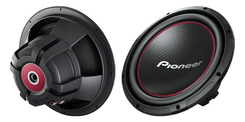 "PIONEER TS-W304R - 12"" Component Subwoofer with 1,300 Watts Max. Power - Freeman's Car Stereo"