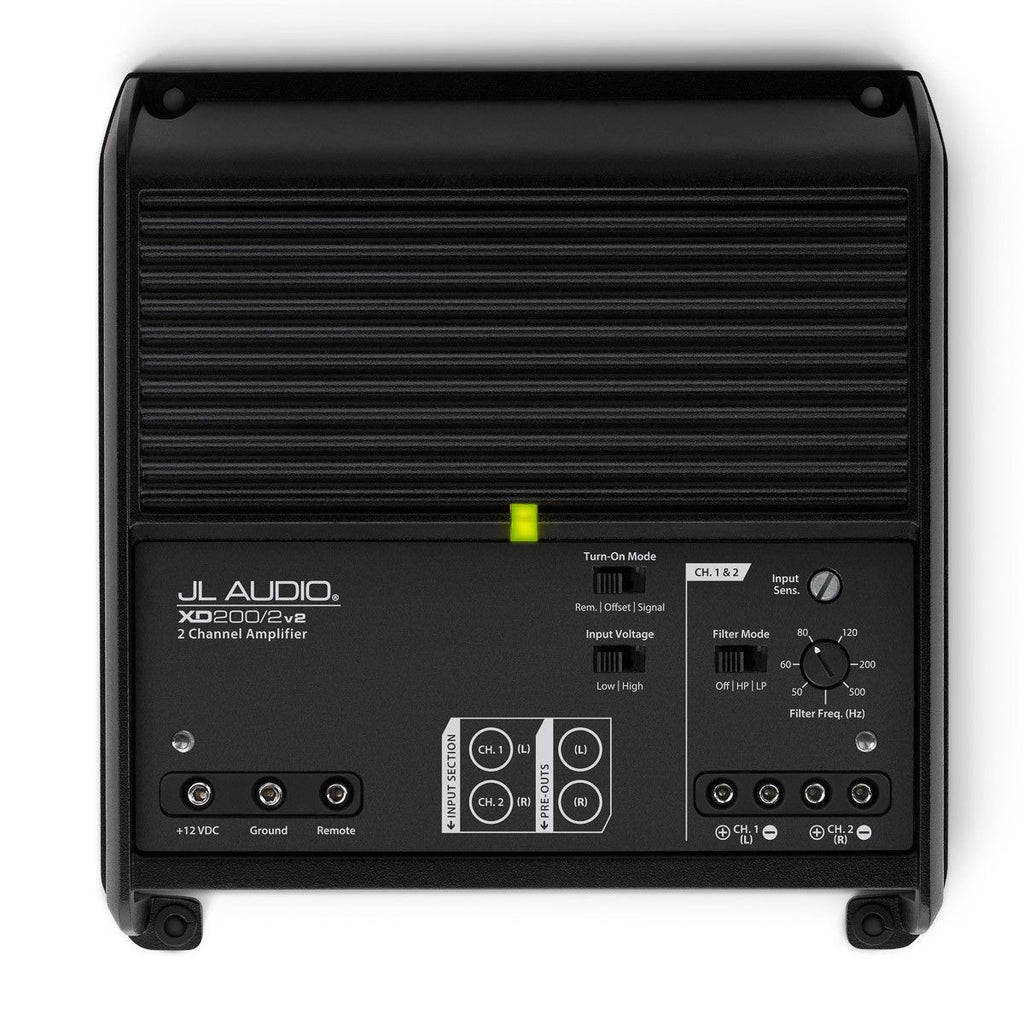 JL Audio XD200/2v2 - 2-Channel Class D Full-Range Amplifier - Freeman's Car Stereo