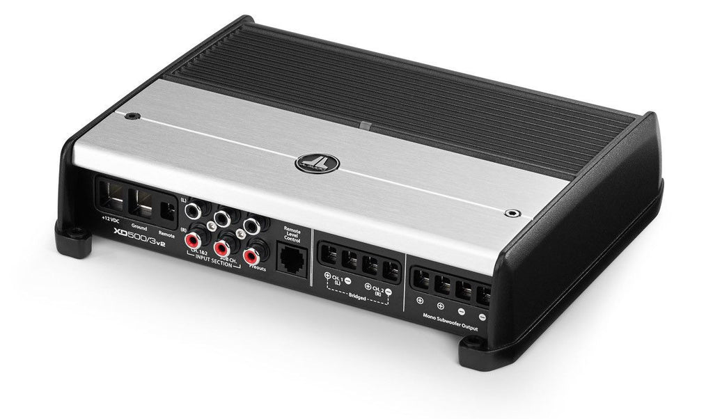 JL Audio XD500/3v2 - 3-Channel Class D System Amplifier - Freeman's Car Stereo