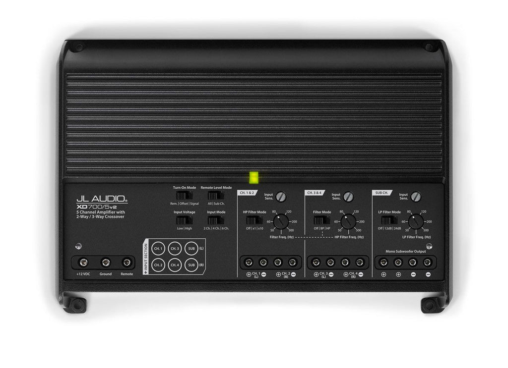 JL Audio XD700/5v2 - 5-Channel Class D System Amplifier - Freeman's Car Stereo
