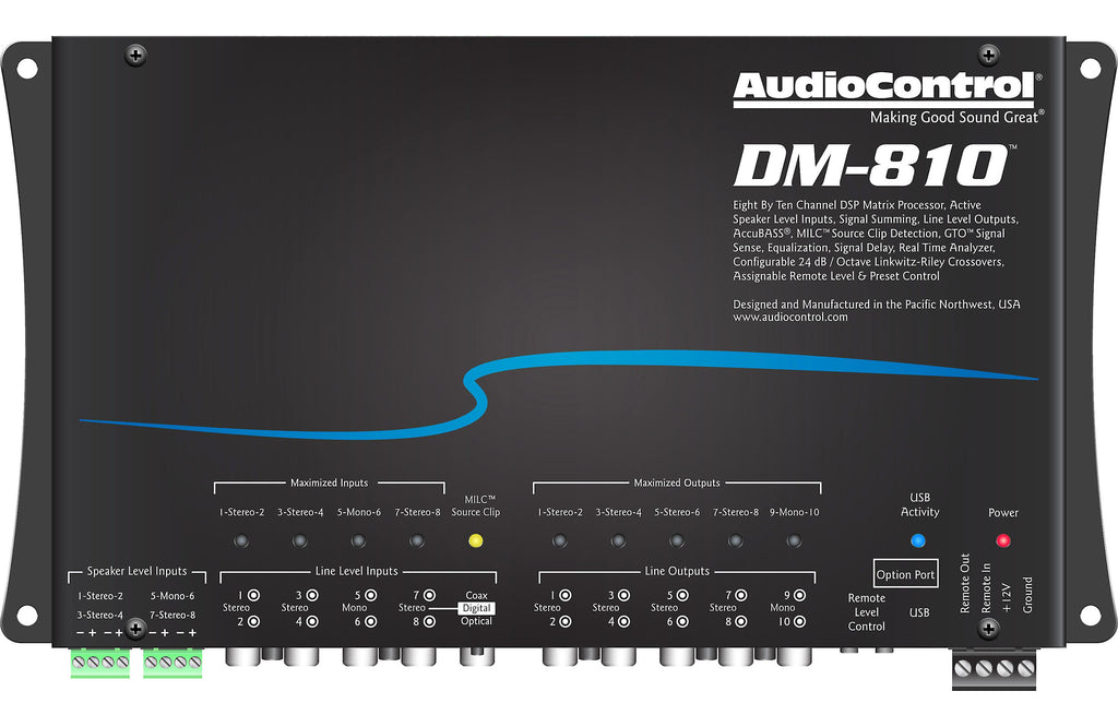 AudioControl DM-810 8 Channel Digital Signal Processor - Freeman's Car Stereo