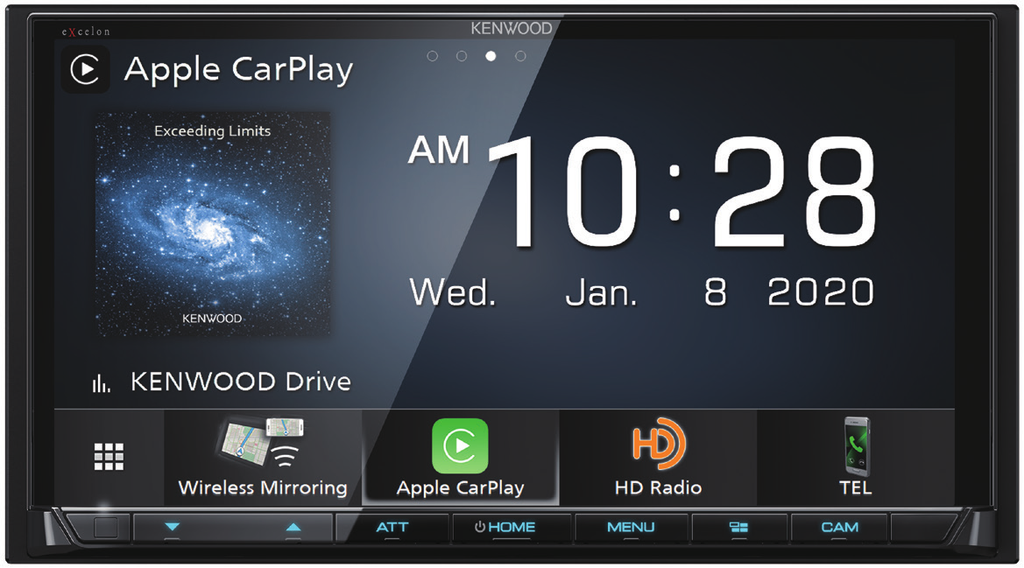 "Kenwood Excelon DMX907S 6.95"" 6.95"" Wireless Apple CarPlay & Android Auto Media Receiver - Freeman's Car Stereo"