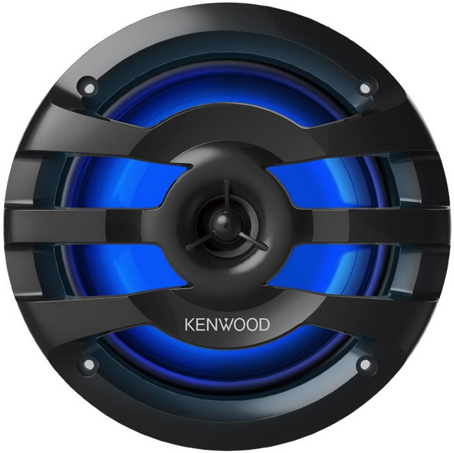 "Kenwood KFC-1673MRBL 6.75"" 2-Way Marine Speaker with RGB Lighting - Black - Freeman's Car Stereo"