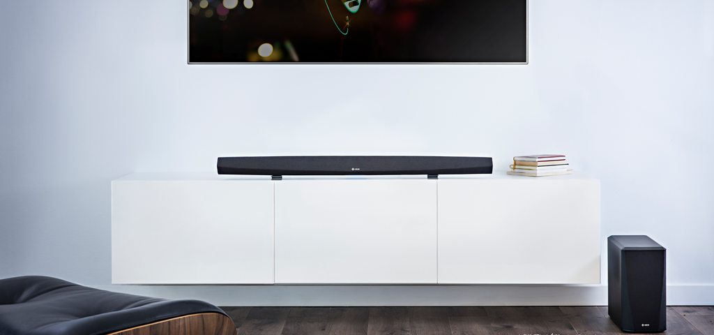 DENON HEOS HomeCinema HS2 Powered 2.1-channel sound bar with wireless subwoofer, Wi-Fi®, and Bluetooth® - Freeman's Car Stereo