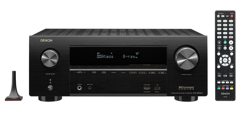 DENON AVR-X2600H (2019) 7.2 channel 4K Ultra HD AV receiver with 95W per channel - Freeman's Car Stereo