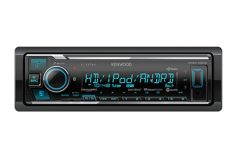 Kenwood eXcelon KMM-X503 - Digital Media Receiver with Bluetooth & HD Radio - Freeman's Car Stereo