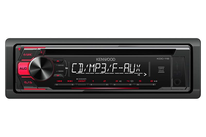Kenwood KDC-118 - CD Receiver With Front Aux Input