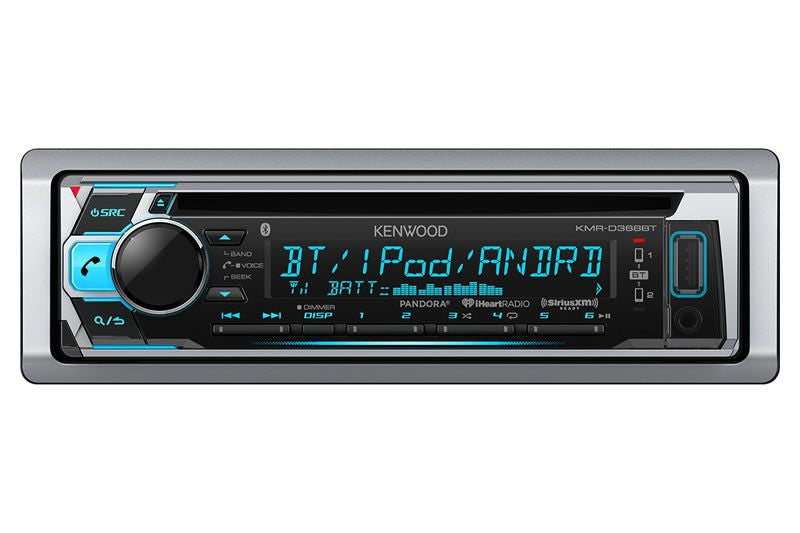 Kenwood KMR D368BT - Marine CD Receiver With Built-In Bluetooth