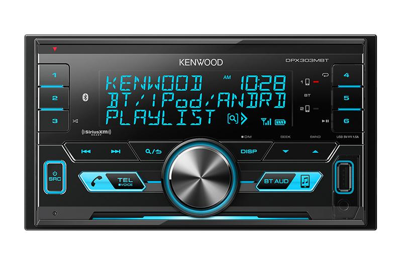 Kenwood DPX303MBT - 2 - Din CD Receiver with Bluetooth - Freeman's Car Stereo