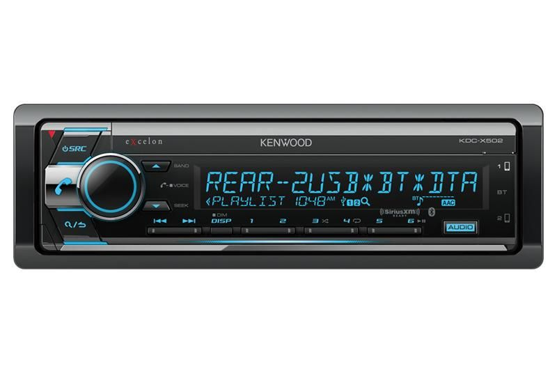Kenwood KDC-X502 CD Receiver with Bluetooth - Freeman's Car Stereo