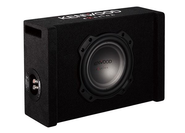 "Kenwood eXcelon P-XW804B 8"" Oversized Shallow Subwoofer - Freeman's Car Stereo"
