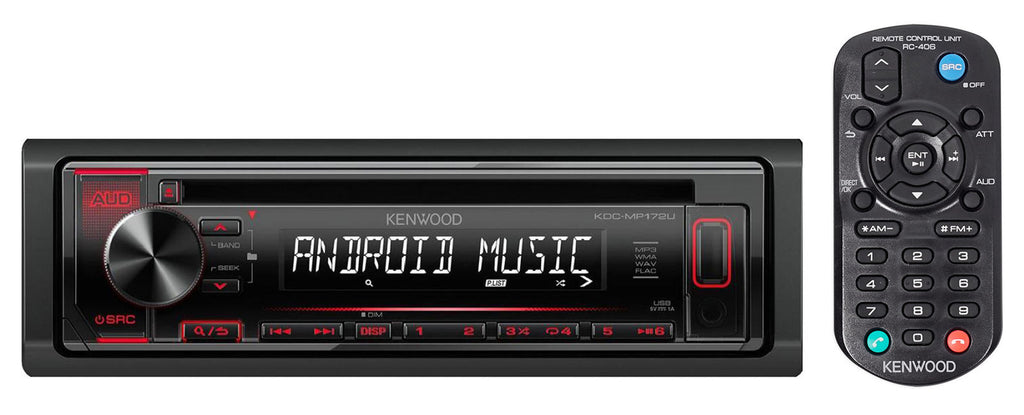Kenwood KDCMP172  In-Dash Car CD Player Receiver with USB - Freeman's Car Stereo