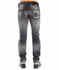 Men's Greaser Slim Straight Denim Jeans in Global