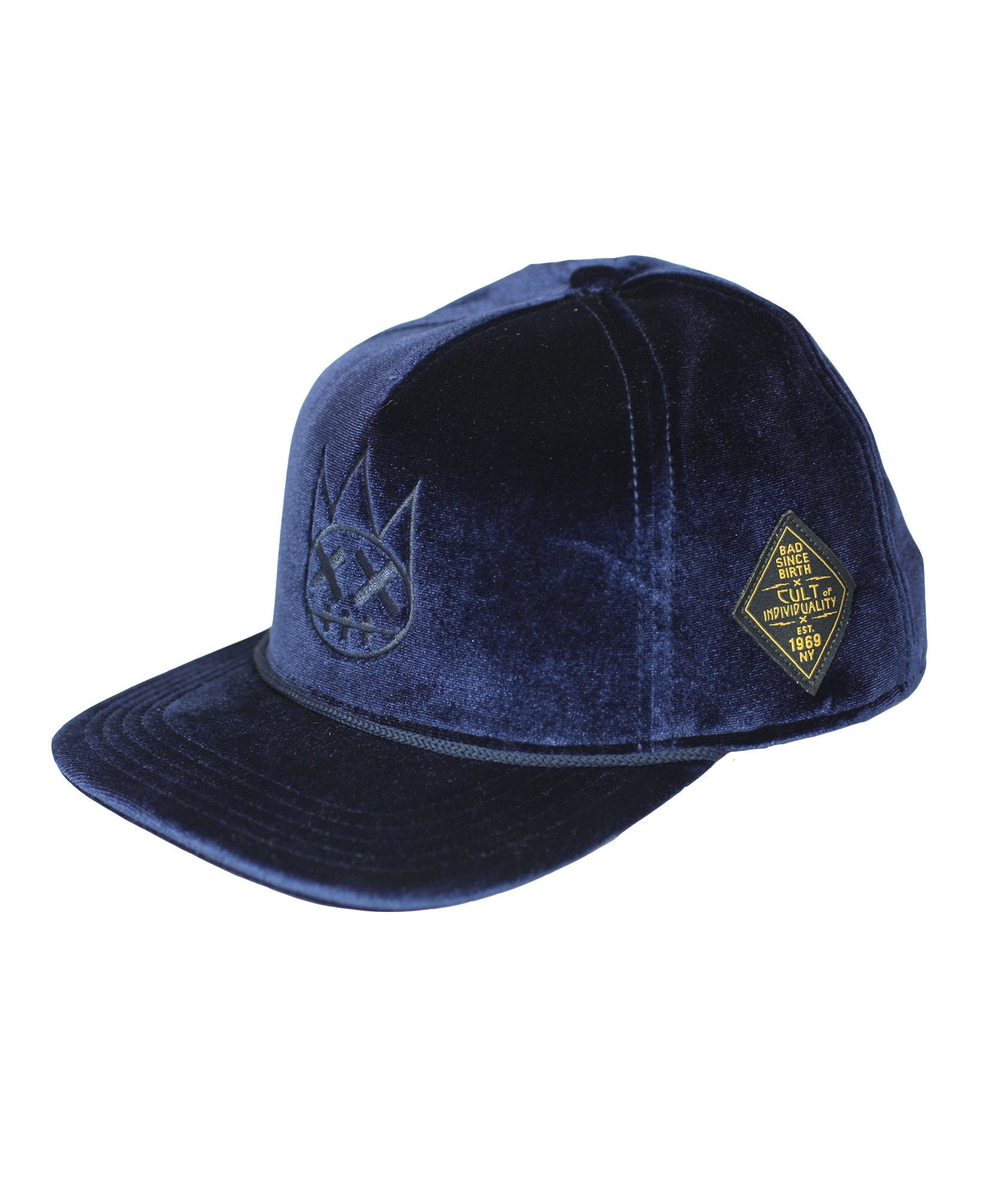 Men's Velour Trucker Hat in Hellraiser
