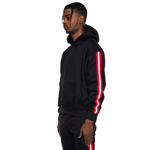 Fleece Taped Track Hoodie