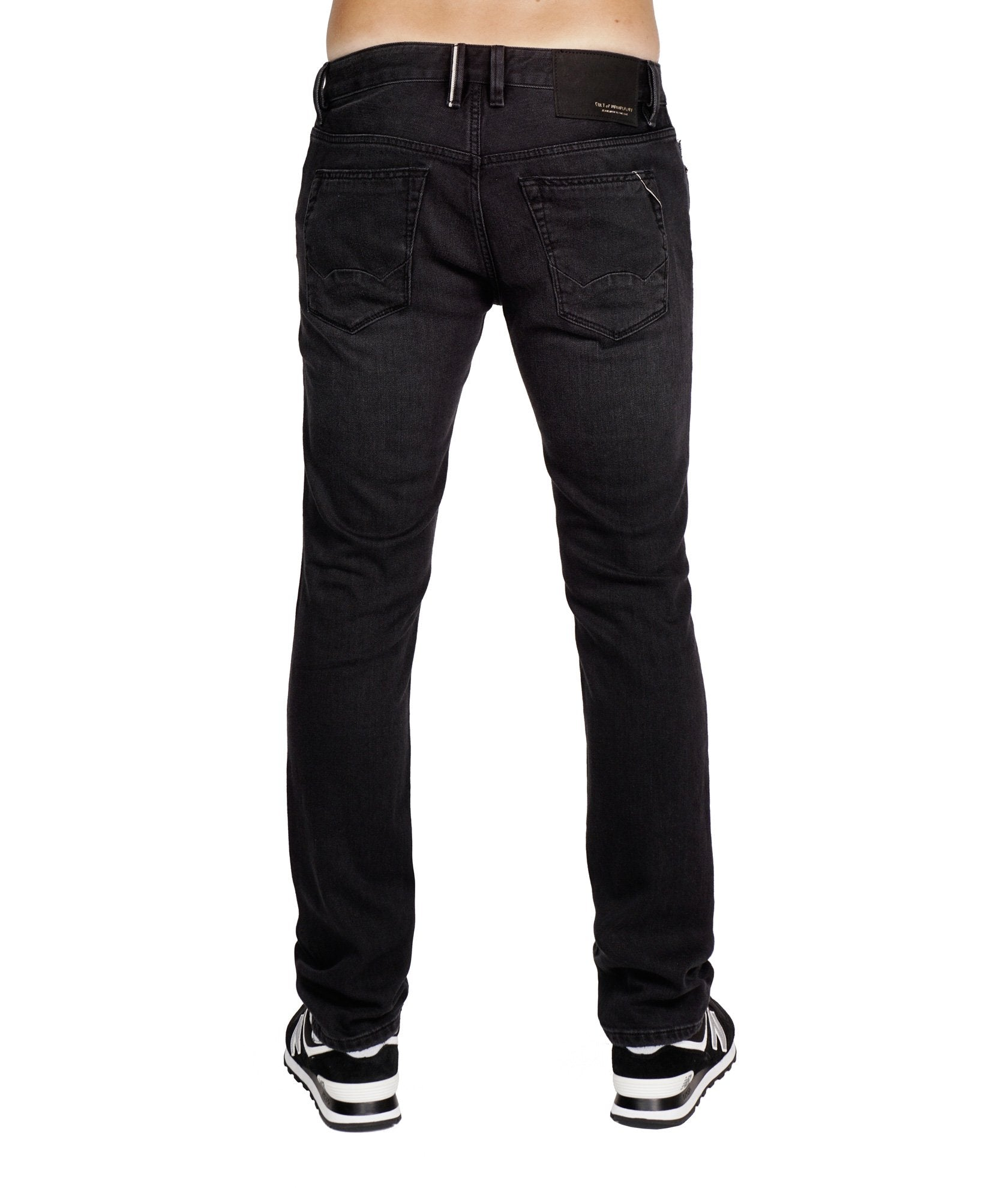 Men's Rocker Slim Denim Jeans Premium Stretch in Vintage Black