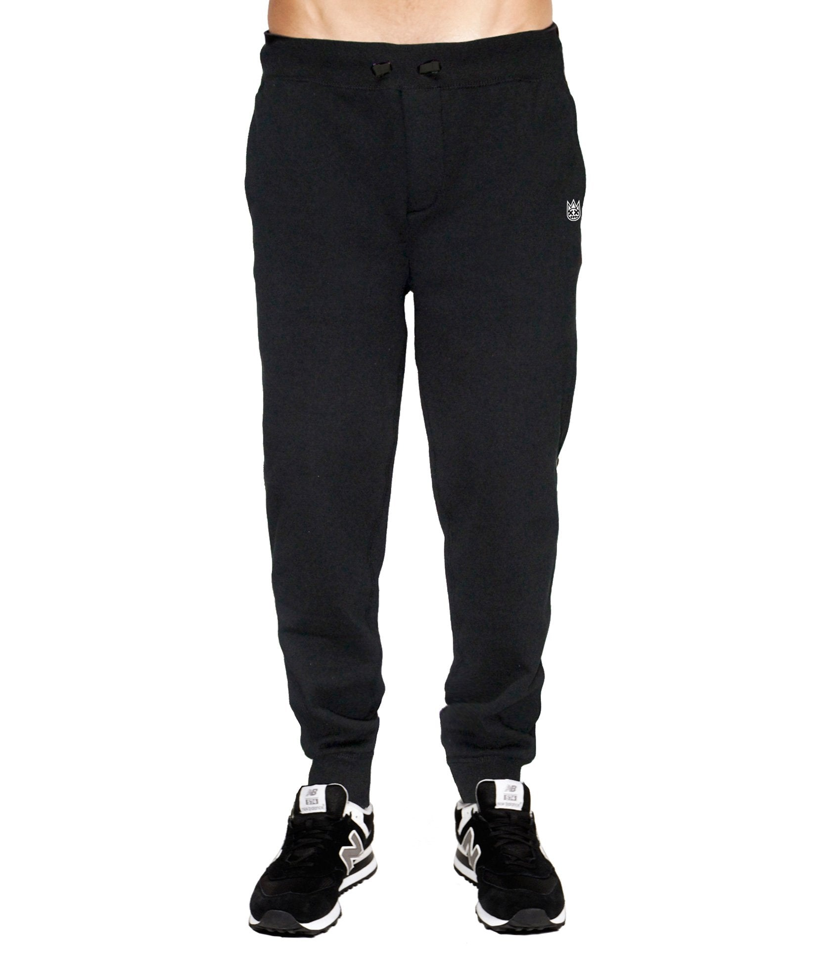 Men's Fleece Sweat Pants in Black