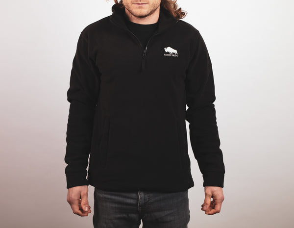Bison Grips Embroidered Fleece - Black