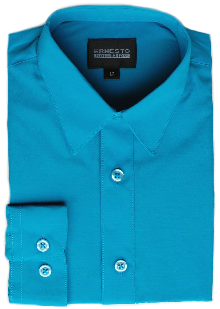 Boys Dress Shirt- Ernesto Collection- DSBSICBL