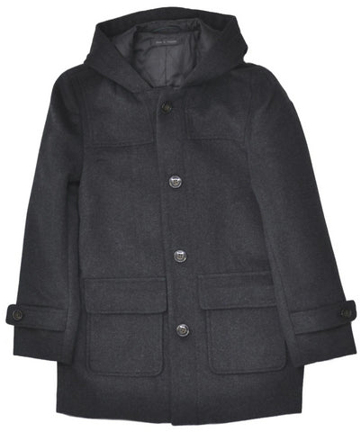 Boys' Tallia 3/4 Length Winter Jacket- OTR1005BK