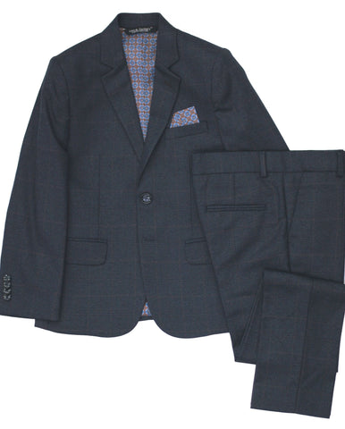 Boy's Appaman Slim Fit Suit-Checks-RSU8SU6CH
