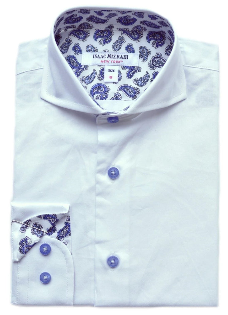 Junior Boys' Isaac Mizrahi Shirt- KS9555WH
