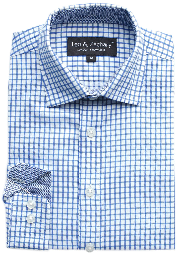 Junior Boy's Leo & Zachary Shirt- KSS5696BL