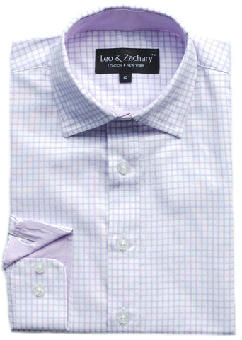 Junior Boy's Leo & Zachary Shirt- KSS5716WH