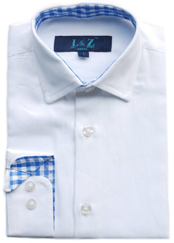 Junior Boy's Leo & Zachary Shirt- KS5696CH