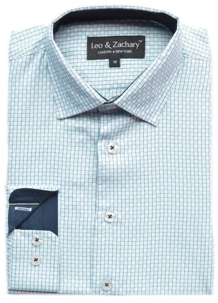 Junior Boy's Leo & Zachary Shirt-KS5733MI