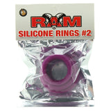 Ram Silicone Cock Rings #2 in Purple