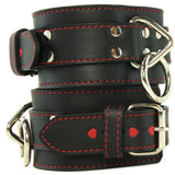 Heart Inlay Leather Wrist Restraints