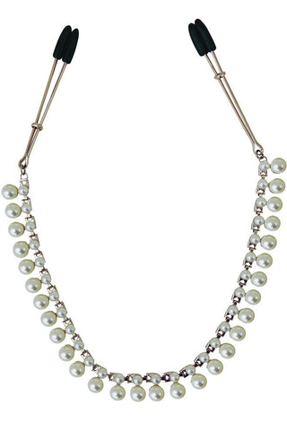 Midnight Pearl Chained Tweezer Clamps