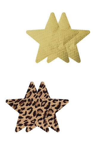 Eye Candy Leopard & Gold Star Pasties - La Petite Mort - 1